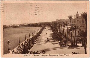 Italian Tripolitania - Postcard of Tripoli in 1934.