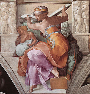 Sistine Chapel ceiling, Michelangelo, The Liby...