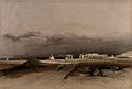 Lightning over the ruins at Memnonium at Thebes, Egypt. Colo Wellcome V0049331.jpg