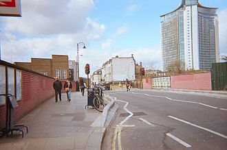 Lillie Bridge (Fulham) - Lillie Bridge from West Brompton station