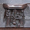 Lily crucifix misericord in Tong church, Shropshire.jpg