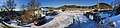 Litlabø skule, a primary school in Stord, Norway. Distorted panorama photo 2018-03-06 IMG 5656.jpg