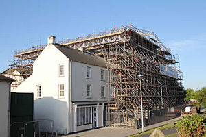 Llanelly House - The house during its restoration, January 2012