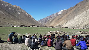 Dolpo - Local people in meeting in Dolpo