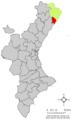 Localització d'Alcalà de Xivert respecte del País Valencià.png