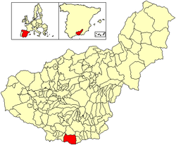 Location of Motril