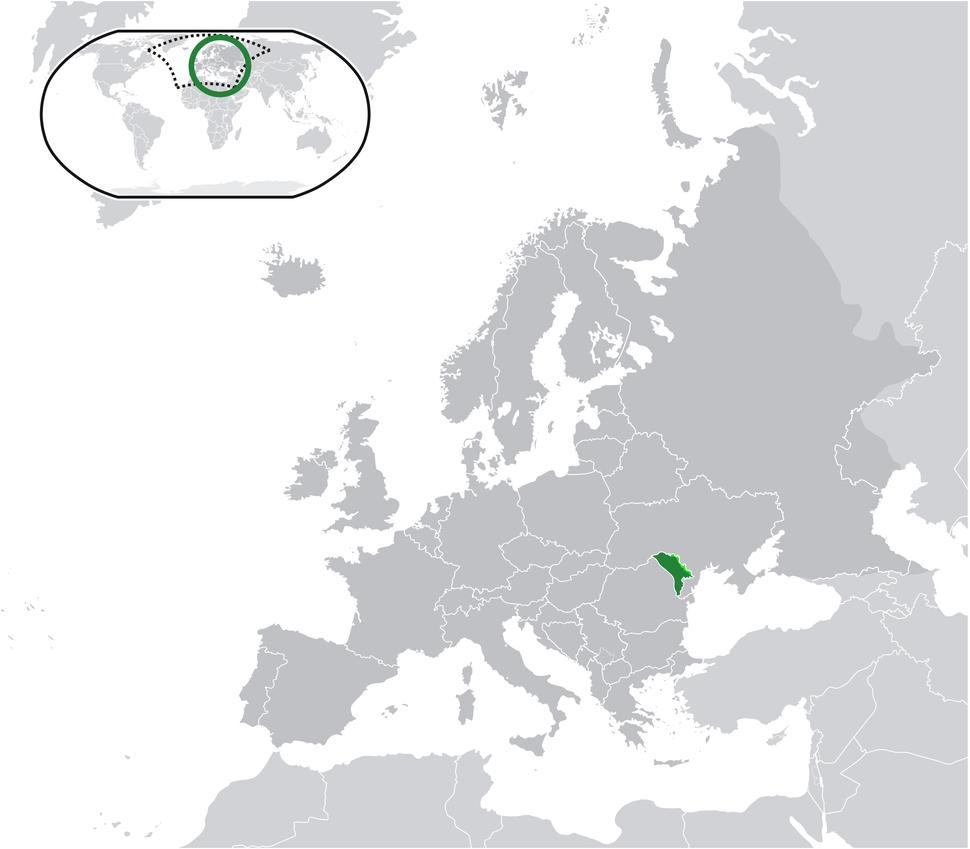 Location Moldova Europe