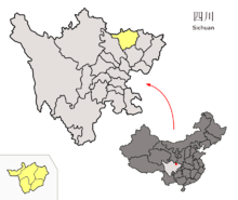Location of Guangyuan Prefecture within Sichuan (China).png