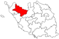 Locator map of the canton de Challans (in Vendée).png