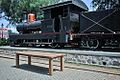 Locomotive and Teak Table in front of Lawang Sewu building, Semarang.jpg