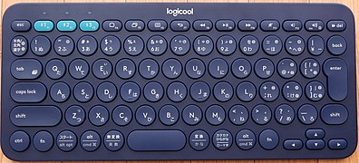 Logicool K380 Japanese bluetooth keyboard.jpg