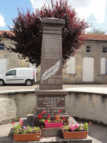 Loisey (Meuse) monument aux morts
