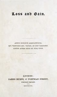 <i>Loss and Gain</i> book by John Henry Newman
