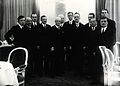 Louis de Broglie and others after a dinner in Warsaw. Photog Wellcome V0028214.jpg