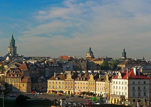 Lublin Plac Zamkowy Stare Miasto z Czwartku