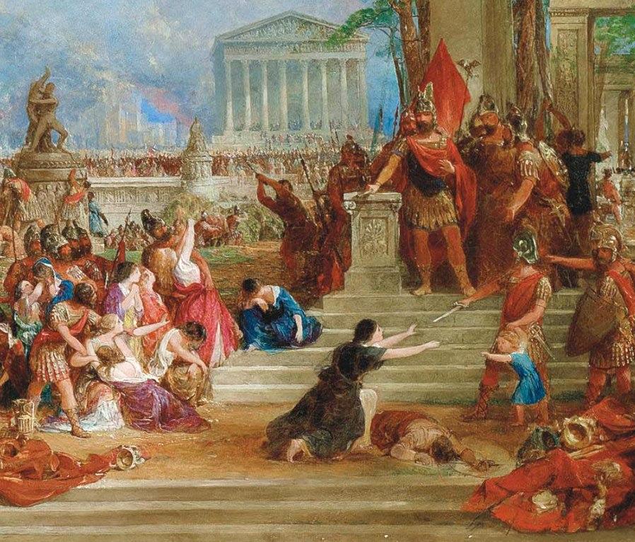 Lucius Mummius Achaicus in The Sack of Corinth, by Thomas Allom
