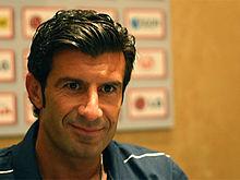 Figo durante la sua militanza nell'Inter nel 2009.