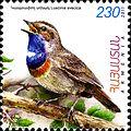 Luscinia svecica 2011 Armenian stamp.jpg