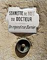 Lyon 6e - Sonnette de nuit du Docteur, cours Lafayette (mai 2019).jpg