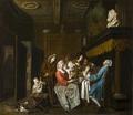 Målning. Horemans. Tedrickande sällskap - Hallwylska museet - 87178.tif