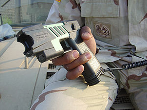 Taser - The M-26 Taser, the United States military version of a commercial Taser