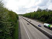 The M3 motorway at East Stratton