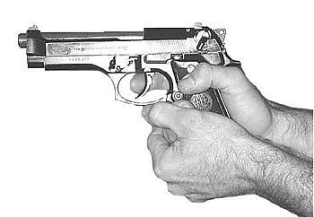 Pistol M9 (Beretta 92F) Palm Supported Grip