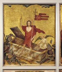 Middelrijns altaar, opstanding van Christus