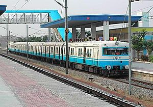 Urban rail transit in India - Image: MMTS sanathnagar
