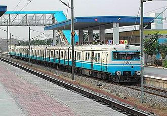 Urban rail transit in India - Image: MMTS sanathnagar