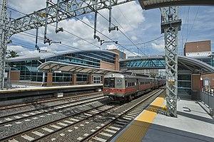 West Haven station - A New Haven Line train passes West Haven
