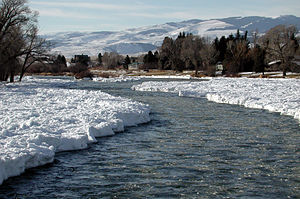 Madison River - Madison River at Ennis in January