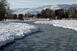 Ennis, Montana - Madison River at Ennis in January