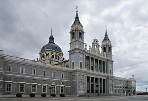 Almudena Cathedral - The Almudena Cathedral viewed from north