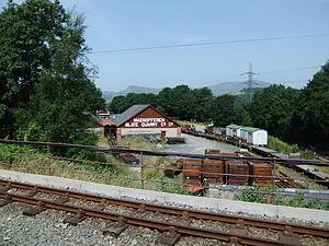 Maenofferen Quarry - The restored Maenofferen Slate Quarry shed at Minffordd Yard on the Ffestiniog Railway