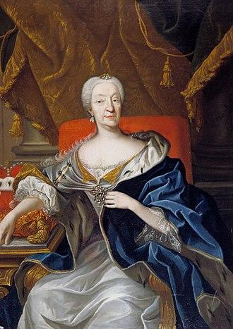 Magdalena Wilhelmine of Württemberg - Portrait of Magdalena Wilhelmine in the Ludwigsburg Palace