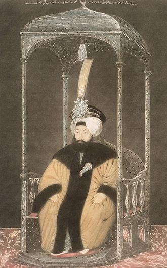 Mahmud II - Mahmud II before his clothing reform in 1826.