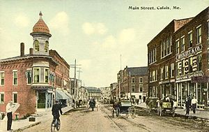 Calais, Maine - Image: Main Street, Calais, ME