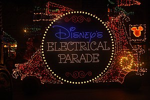 Main Street Electrical Parade - Image: Main Street Electrical Parade Logo Train