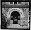 Main doorway - Las Vegas City Hall, 626 Sixth Street, Las Vegas, San Miguel County, NM HABS NM,24-LAVEG,1-3.tif