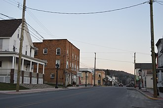 Coalport, Pennsylvania - Main Street south of Spruce