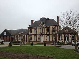 Amfreville-la-Mi-Voie - The town hall in Amfreville-la-Mi-Voie
