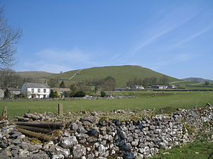 Rural area - A typical countryside scene in rural Yorkshire Dales, England.