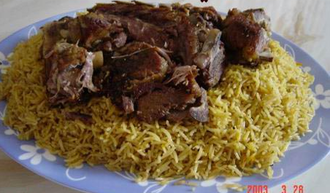 Mandi (food) - Homemade mandi from Saudi Arabia,