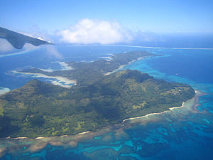Gambier Islands - Image: Mangareva Vue aérienne