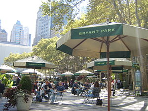 Bryant Park - Tables and seating