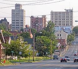 Skyline of downtown Mansfield