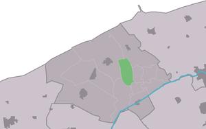 Hegebeintum - Image: Map NL Ferwerderadiel Hegebeintum