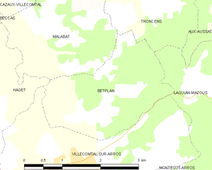 Betplan - Betplan and its surrounding communes
