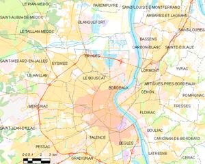波尔多城区地图